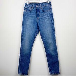 LEVI'S Medium Wash High Waist Button Fly 501 S Skinny Jeans W 27 L 30